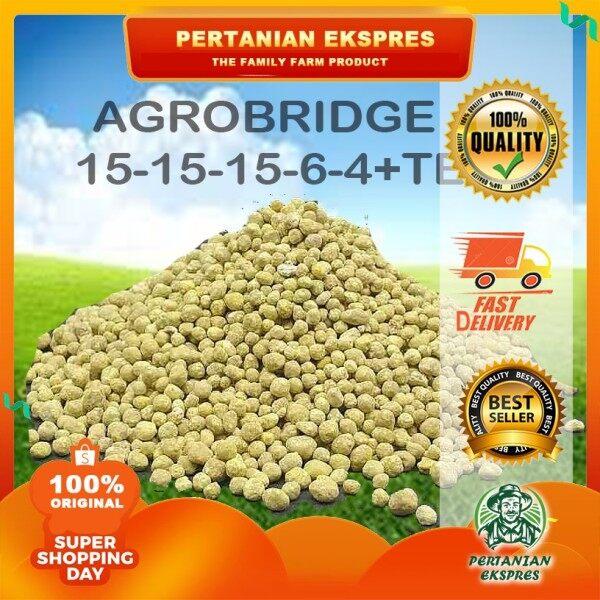 1kg Baja Agrobridge import npk 15-15-6-4+TE/ baja SUBUR buah / baja sebatian / Jabatan fertilizer import
