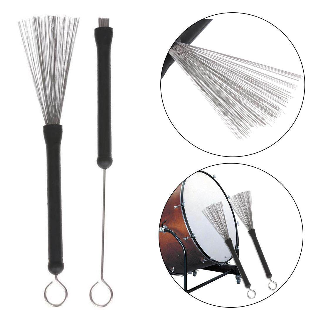 Wire Retractable Drum Brushes Sticks Retractable Loop End Drum Brushes For Jazz Drum Stick Musical Accessories