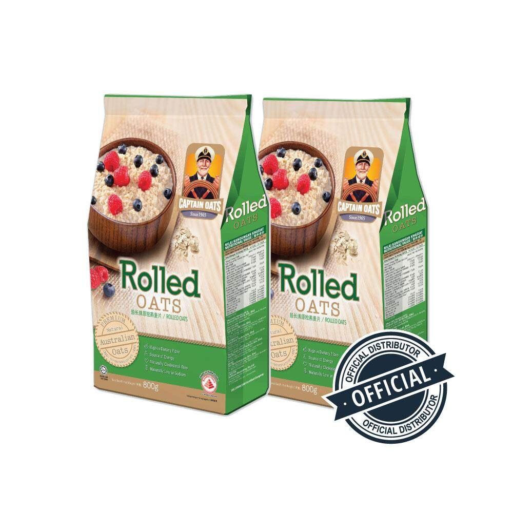 Captain Oats Fp - Rolled Oats*800g (twin Pack) By Nanotronic Malaysia.