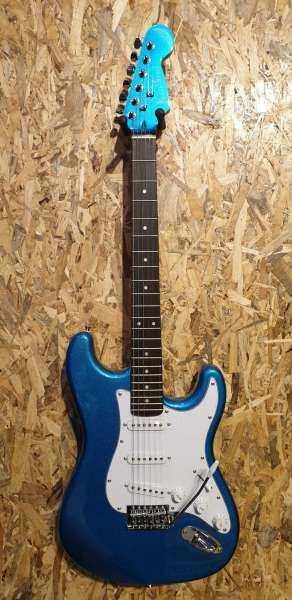 Phono Genic Blue Stratocaster Design Electric Guitar New Malaysia