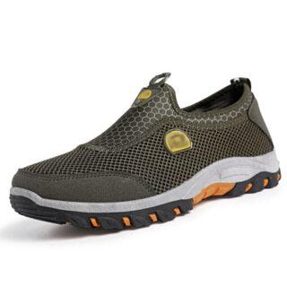 Đi Kèm Giày Nam Lưới Thoáng Khí Giày Chạy Thể Thao Giản Dị Không Mặc Trượt Giày Sneaker Đi Bộ thumbnail