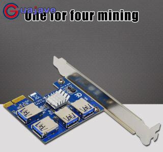 Guajave Bo Mạch Mở Rộng PCI Mới 1 Đến 4 Khe Cắm PCI Bộ Chuyển Đổi USB 3.0 Bộ Chuyển Đổi Adatper PCIE Riser Cho Thiết Bị Đào Bitcoin thumbnail