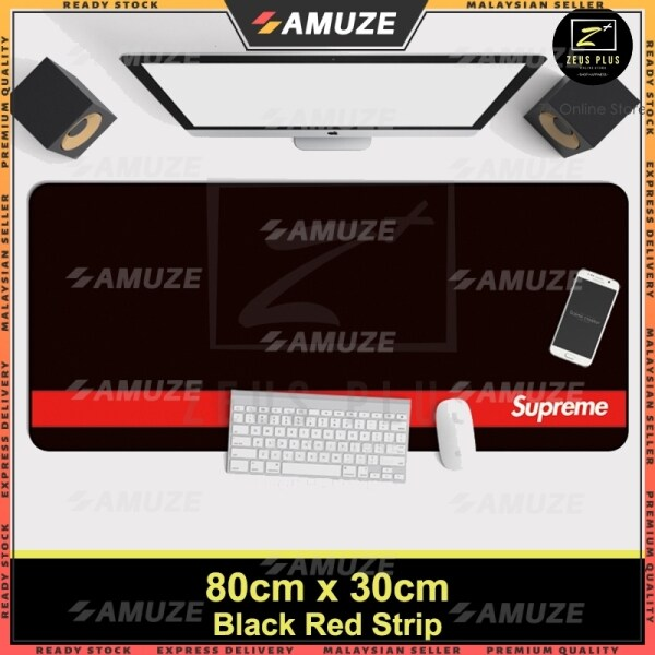 AMUZE Large Gaming Thicken Desktop Keyboard Mouse Pad Laptop Accessory(RDStrip) Malaysia