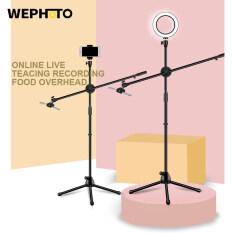 WEPHOTO Đèn LED Tròn Làm Đẹp Có Thể Điều Chỉnh Độ Sáng Giá Đỡ Chụp Ảnh Điện Thoại Có Thể Điều Chỉnh Giá Đỡ Bộ Dụng Cụ Chụp Ảnh Phòng Chụp Bùng Nổ Trực Tiếp