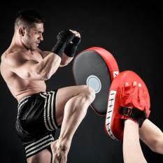 Da PU Đấm Đá Lòng Bàn Tay Miếng Lót Móc & JAB Kích Miếng Lót Mục Tiêu Mitt Găng Tay cho Tập Trung Đào Tạo của Karate MuayThai kick Boxing UFC MMA