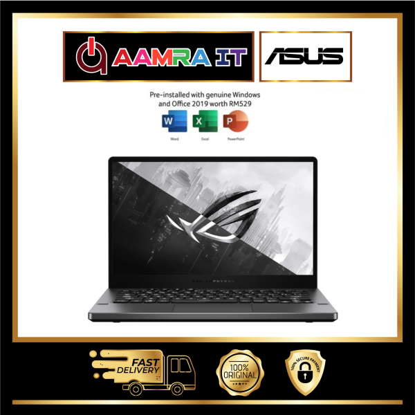 Asus ROG Zephyrus G14 GA401Q-MK2164TS 14 WQHD Gaming Laptop Grey (Ryzen 9 5900HS, 16GB, 1TB SSD, RTX3060 6GB Max-Q) Malaysia