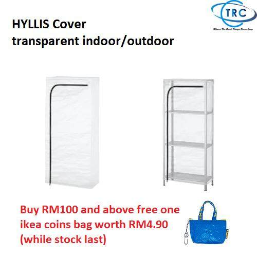 [Ready stock] Ikea HYLLIS Cover, transparent indoor/outdoor (60x27x140cm)