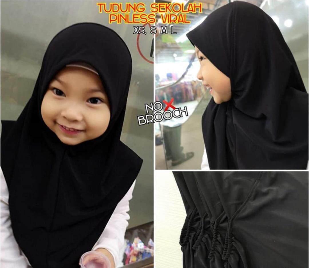 Tudung Sekolah Hitam By First Global Hijab.