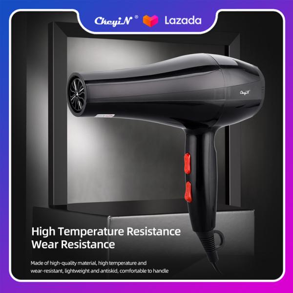 CkeyiN Máy sấy tóc chuyên nghiệp 750W, gió nóng lạnh sấy tóc nhanh, điều chỉnh tự do 3 nhiệt độ và 2 tốc độ, dùng cho Salon và gia đình CF080