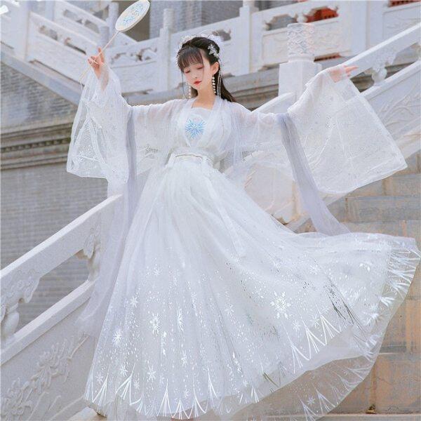 Giá bán Đầm Hán Phục Nữ Thanh Lịch Truyền Thống Trung Quốc Cổ Đại Trang Phục Nhảy Flok Sân Khấu Cổ Tích Hán Phục Nữ Nhà Đường Cổ Điển Mùa Hè