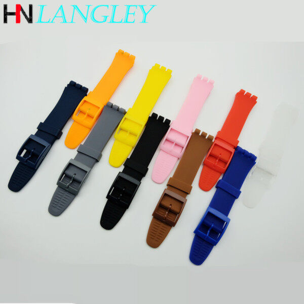 Watch Band Replacement Waterproof Jelly Silicone Rubber Watch Strap WatchBand Watch Accessories Rubber Bracelet Rubber Bracelet Accessories 16/17/19/20mm SUOB704 SUOW701 GW164 GB274 SUTB402 Malaysia