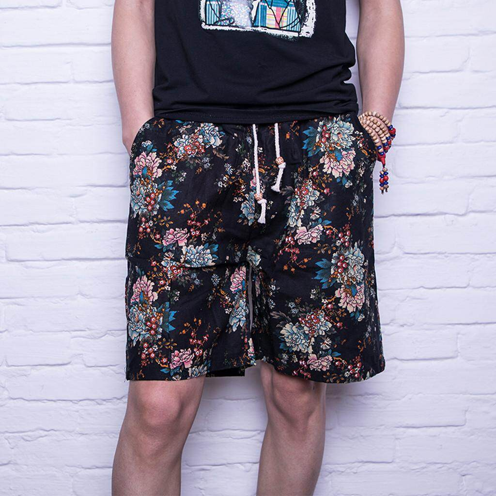 Mobilone Mens New Summer Fashion Casual Printing Patchwork Loose Beach Sport Shorts Pant By Mobilone.