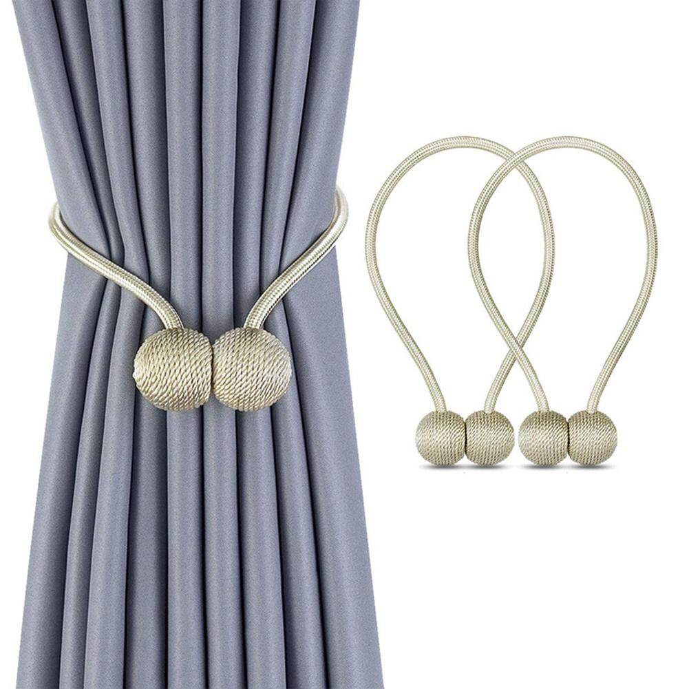 【Freeshipping for Any 3 items】【COD】Curtain Accessories 2 Pcs Ball Curtain Straps Magnetism Curtain Buckle Tie Rope