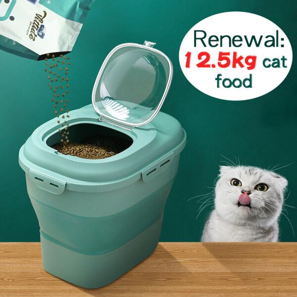 Hộp Đựng Thức Ăn Cho Thú Cưng/Chó Nhật Bản, Thùng Đựng Thức Ăn Cho Mèo, Hộp Đựng Hạt Kín Dung Tích Lớn 15Kg