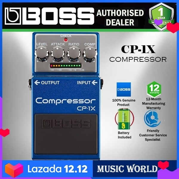 Boss CP-1X Compressor Guitar Effect Pedal Foot Switch Processor (CP1X CP 1X) Malaysia
