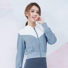 Dream-S Phụ Nữ Thể Thao Ngoài Trời Hoodies Dây Kéo Chạy Áo Khoác Ghép Màu Polyester Tập Thể Dục Tập Thể Dục Mỏng Sportswea