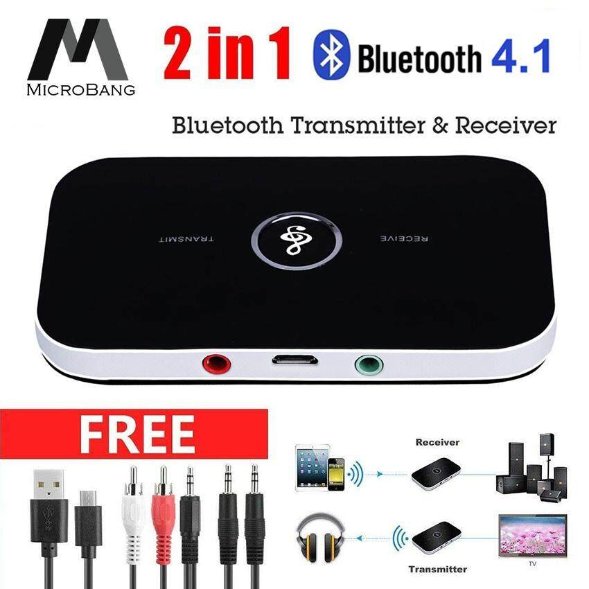 MicroBang 2 in 1 Bluetooth Transmitter and Receiver Bluetooth Adapter  Wireless Transmitter Receiver Wireless A2DP Bluetooth Stereo Audio Adapter