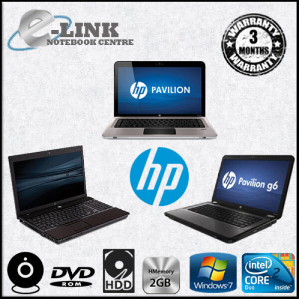 (REFURBISHED) LAPTOP / NOTEBOOK HP / DELL / LENOVO / TOHISBA / ACER / NEC MIX MODEL (INTERNAL WEB CAM) AMD / Core 2 Duo 2.0GHz / 2GB RAM / 80GB HDD Malaysia