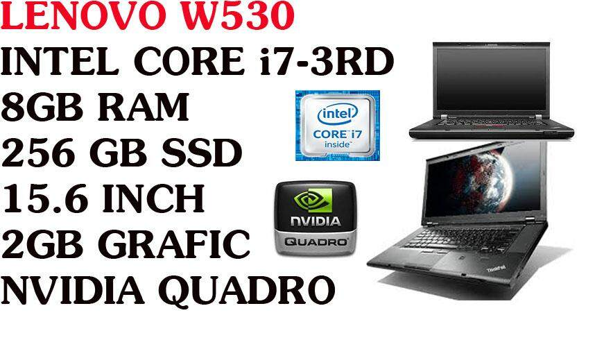 LENOVO WORKSTATION LAPTOP, GAMING SERIES, i7-3RD GEN, 8GB-256GB SSD, 15.6, 2GB NVIDIA QUADRO Malaysia