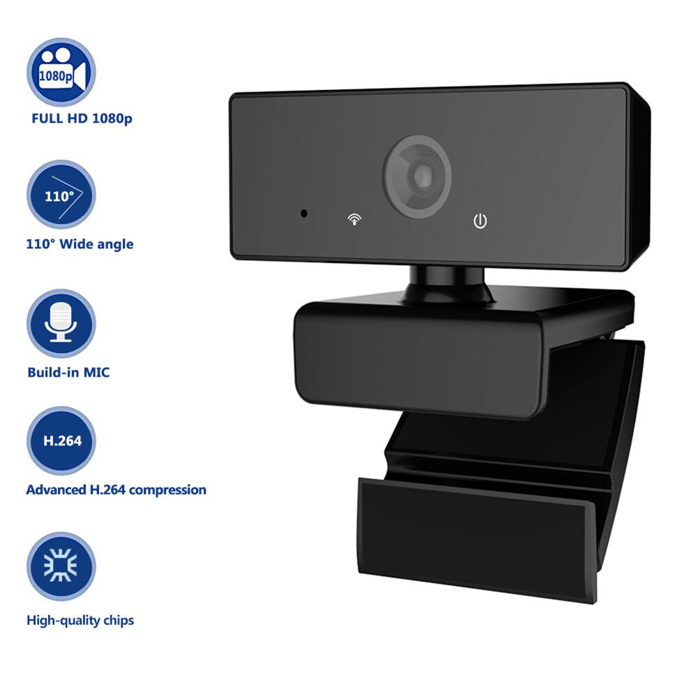 Webcam 1080P Full HD, Webcam Tích Hợp Micro Và Màn Hình Rộng, Đầu Cắm USB Và Phát
