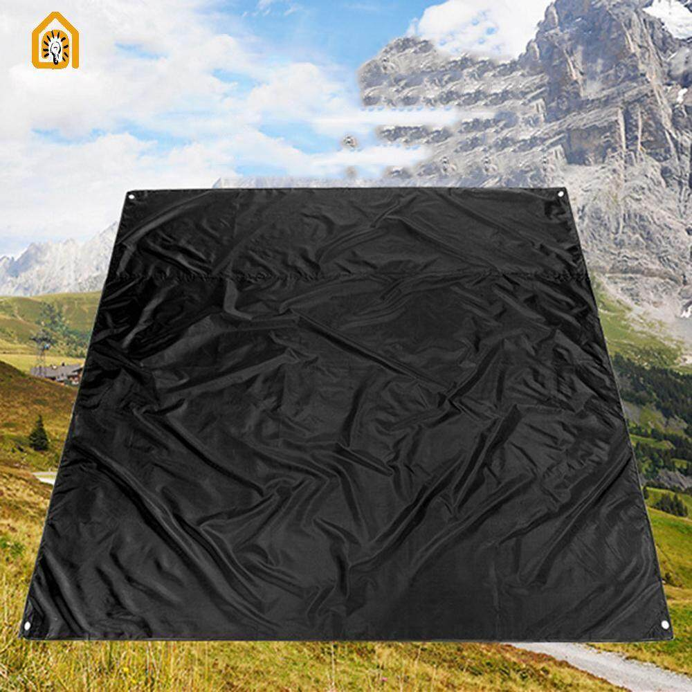 Quiversnowy 210*200CM Outdoor Climbing Camping Shades Tent Black Oxford Cloth Sit Cushion Moisture-proof Non-slip Mat Camping Picnic Cushion Beach Mat