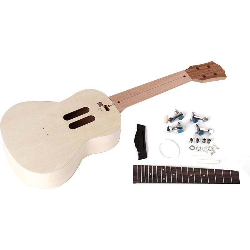 23 Inch Ukulele Diy Kit Spruce Panel Strings Hawaiian Guitar for Handwork Painting Perfect Parents-Child Campaign