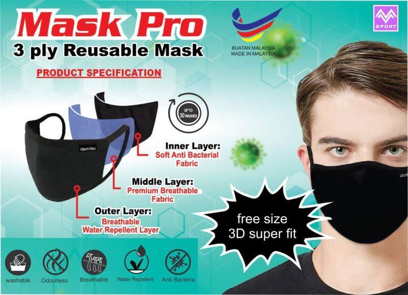 MASK PRO 3 ply Reusable Mask