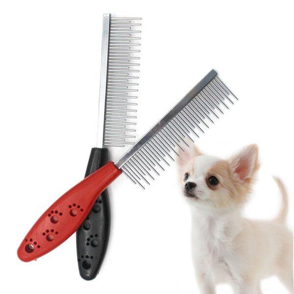 Lược Chải Chó Bằng Thép Không Gỉ Lược Nhổ Lông Thú Cưng Dụng Cụ Chải Lông Cho Chó Mèo 19.5*3Cm