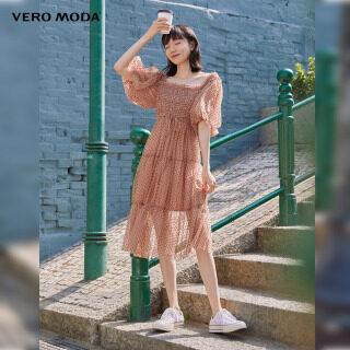 Vero Moda Đầm Nữ Tay Phồng Lưới Xuyên Thấu, 32116Z007 thumbnail
