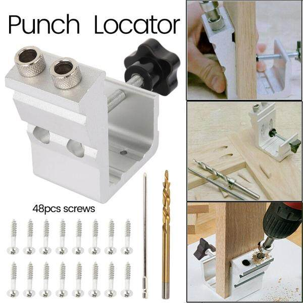 【New & Ready Stock】1 Set Pocket Hole Jig Kit System Woodworking Screw Drill 850 Heavy Duty Tool