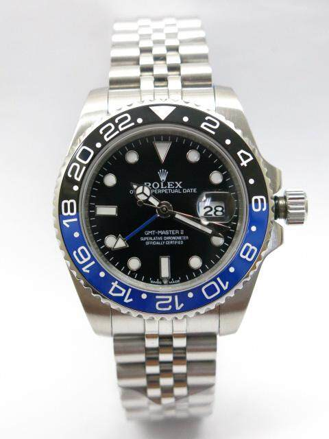Fashion Watch RX OYSTER PERPETUAL GMT MASTER II ( Black Blue ) 40mm Automatic Watch (No Need Battery) Malaysia
