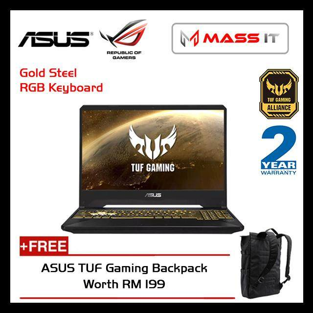 ASUS FX505G-DBQ376T TUF Gaming (i7-8750H/GTX1050 4GD5/8GB D4 2666MHz/1TB 7200RPM/15.6 IPS FHD/WIN10/2 Years Warranty) Malaysia