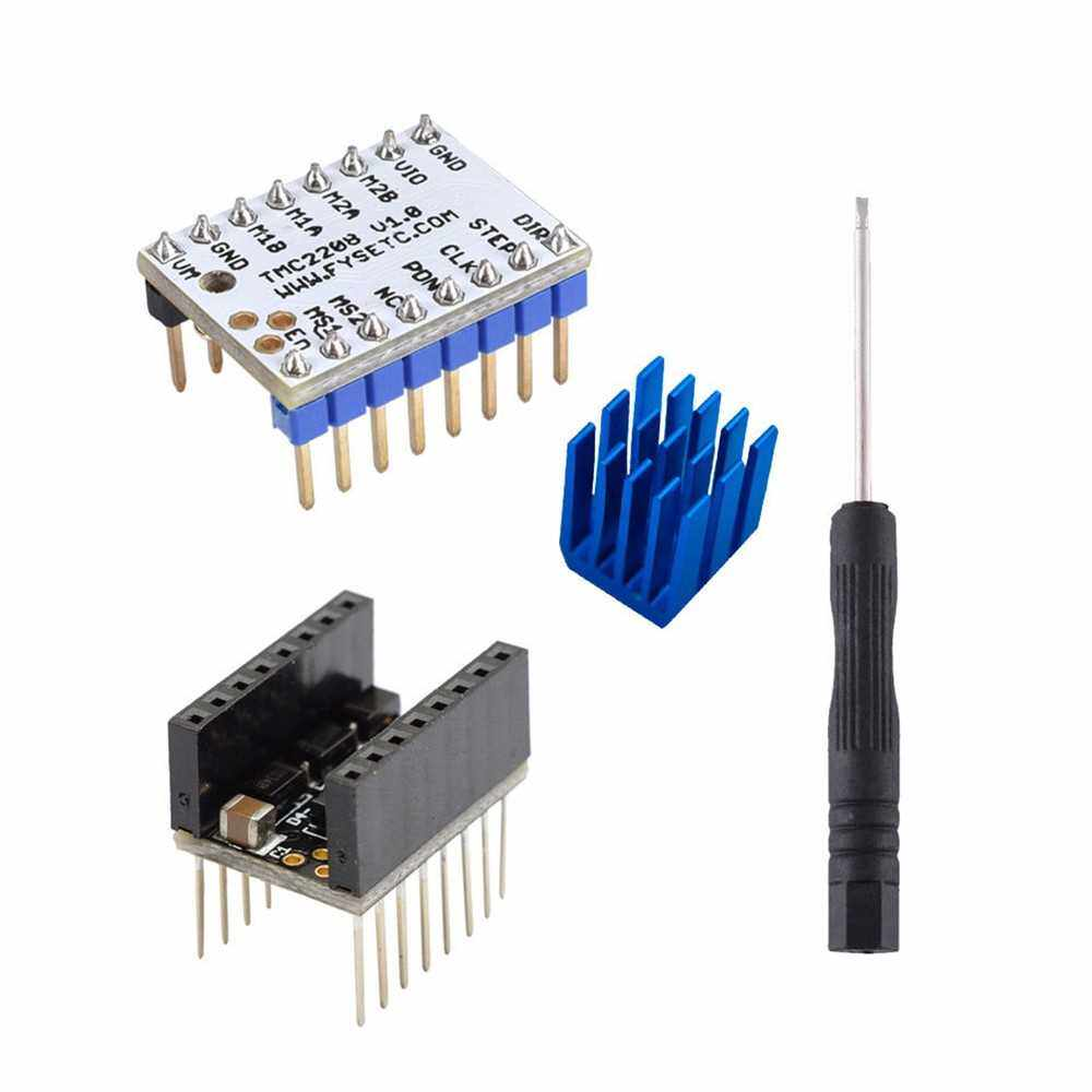 1 Set TMC2208 V1.0 Stepper Motor Driver Board Module High-Subdivision Mute Drive with Driver Smoother 3D Printer Parts (01)