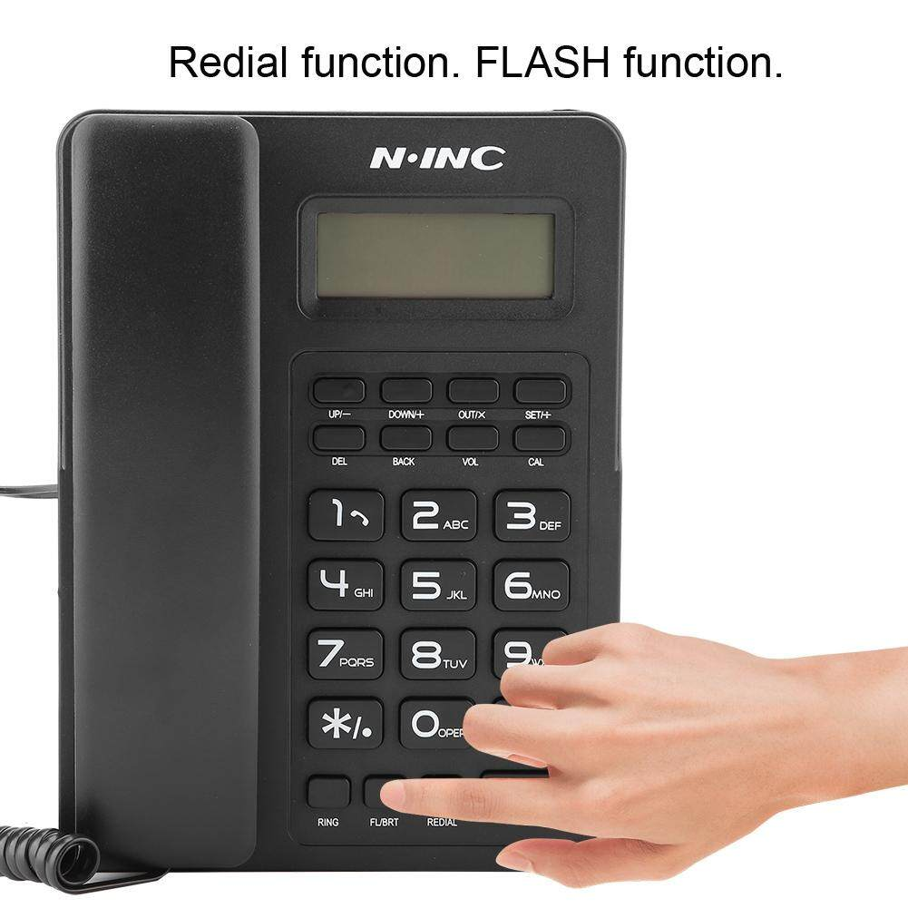 【Upgraded Version】Landline Phones Large Screen Caller ID Display Landline  Wired Home Office Fixed Telephone No Battery