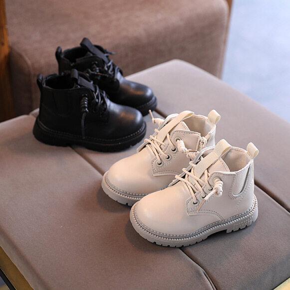 Giày Trẻ Em, Bốt Da Thủy Triều Cho Bé Trai Bé Gái Bốt Martin Kiểu Anh Cho Bé, Thời Trang 1-3-6 Tuổi giá rẻ