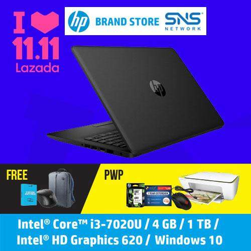 [11.11 Mega Offer] NEW HP Laptop 14-ck0099TU / 14-ck0100TU / 14-ck0101TU 14  HD (i3-7020U, 1TB, 4GB, Intel® HD Graphics 620, W10) - (Black/Silver/Red) [FREE] HP Backpack + HP Wireless Mouse + F-Secure 1 Year Client Security Malaysia