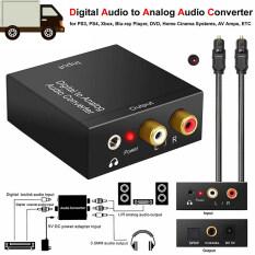 Bộ Chuyển Đổi Quang Coax Toslink Kỹ Thuật Số Sang Analog Bộ Chuyển Đổi Âm Thanh Stereo RCA L/R