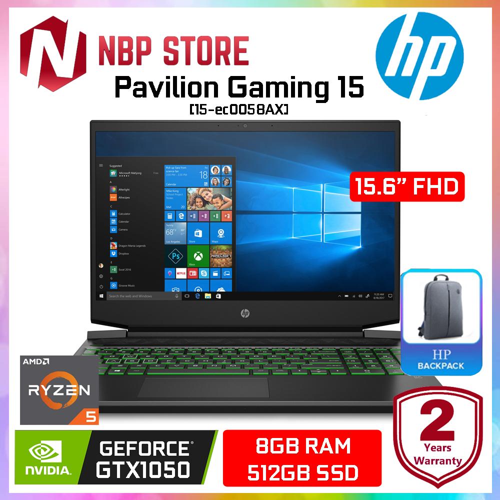HP Pavilion Gaming 15-ec0058AX 15.6  FHD Gaming Laptop ( Ryzen 5-3550H, 8GB, 512GB SSD, GTX1050 3GB, W10 ) Malaysia