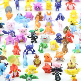 144 Cái lốc, Đồ Chơi Mô Hình Hành Động Quái Vật Bỏ Túi Búp Bê Đồ Chơi Con Nhộng Pokemons Đồ Chơi Mô Hình Mini Pikachu Venusaur Ditto Gengar Cho Trẻ Em thumbnail
