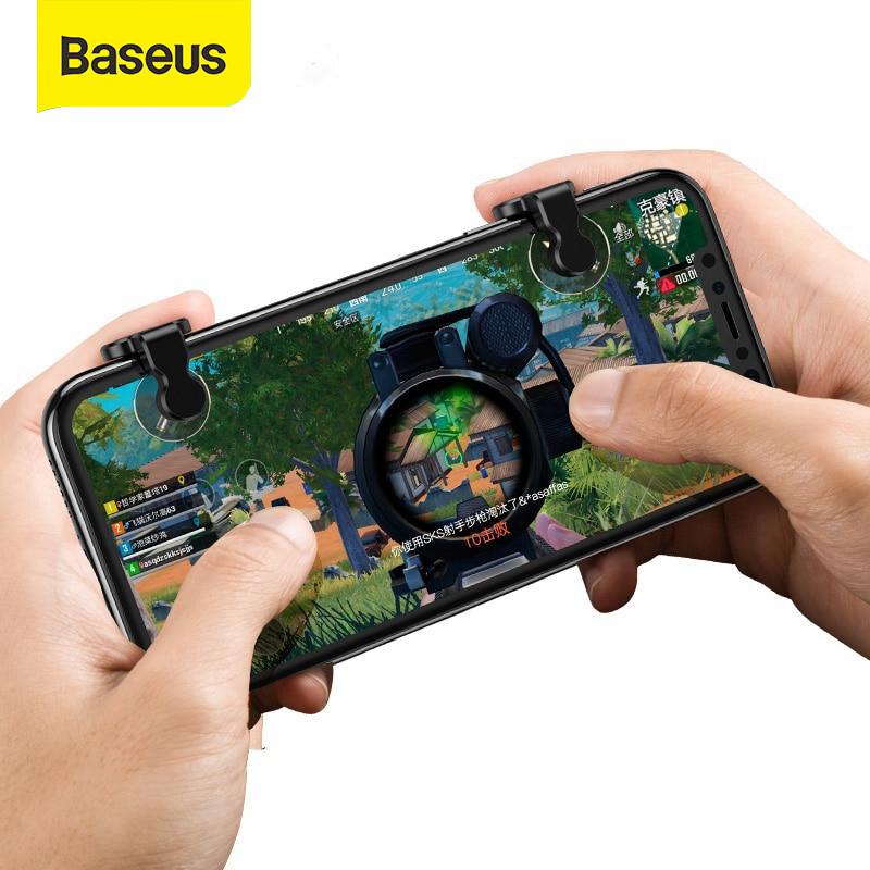 Baseus 1 Điện Thoại Di Động Chơi Game Kích Hoạt cho PUBG Quy Tắc Sống Sót Trò Chơi Điện Thoại Lửa Nút Mục Đích Chìa Khóa L1 R1 bắn Điều Khiển