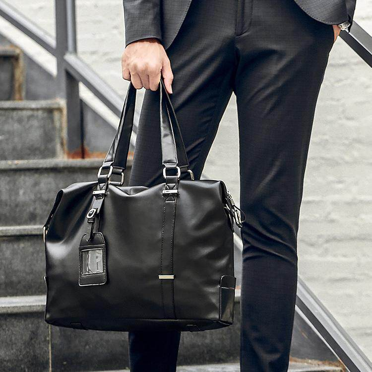 Mens Briefcase Fashion Large Capacity Business bag Black Male Shoulder Laptop Bag