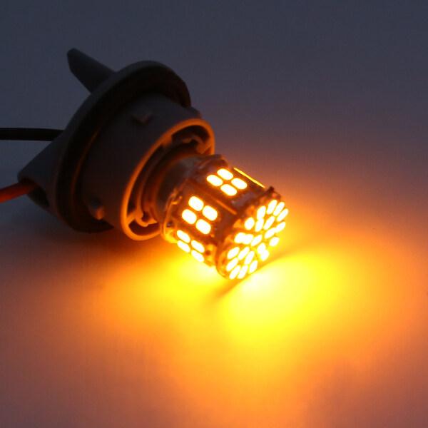 BOKALI 2Pcs 1156 BAU15S PY21W 150 ° 50 LED SMD Đèn Báo Rẽ Phía Đuôi Bóng Đèn Vàng