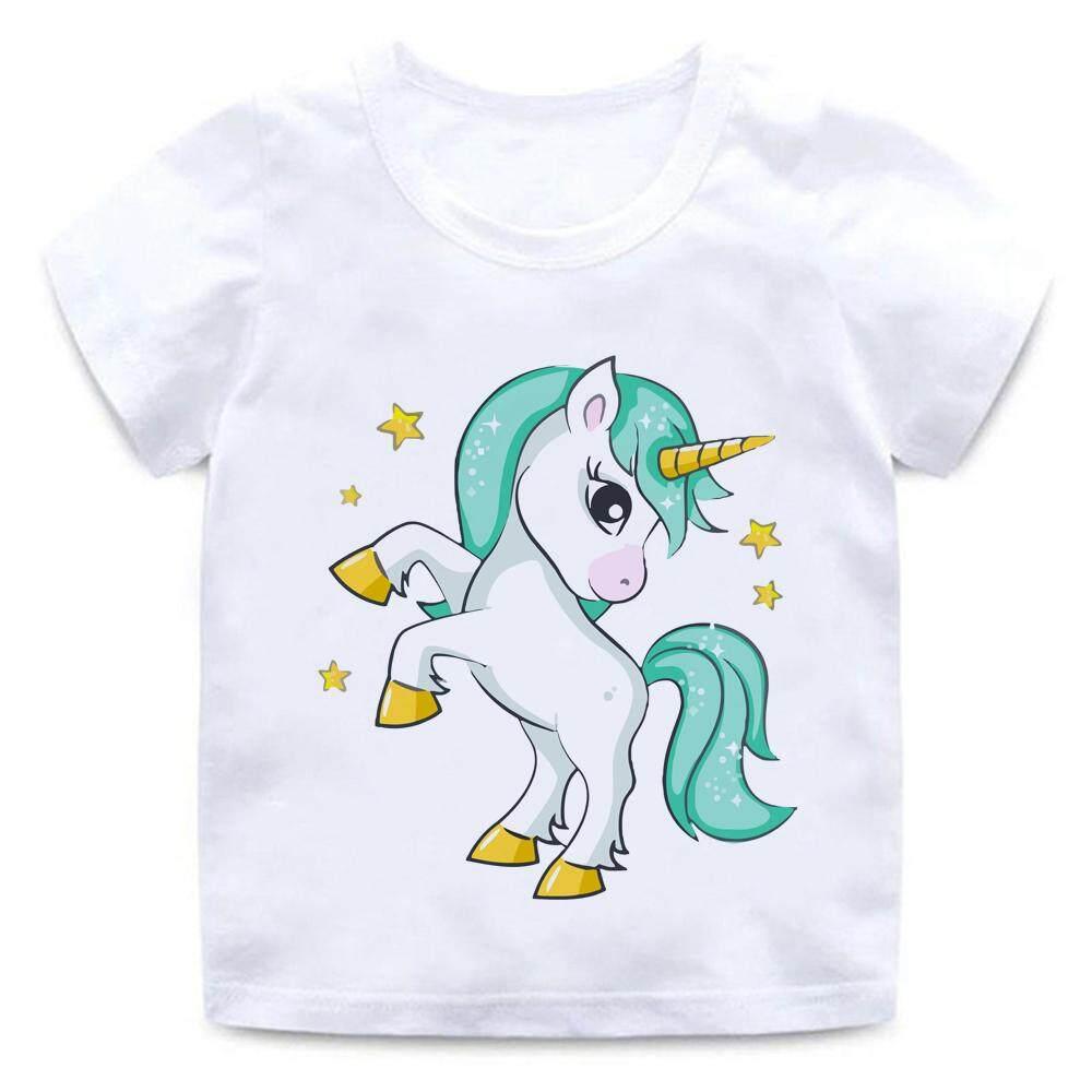 9c5c42ee575 Star Cartoon Unicorn Animal 2-14yrs Tshiet for kids t shirt Boy Girls  Cartoon Pattern