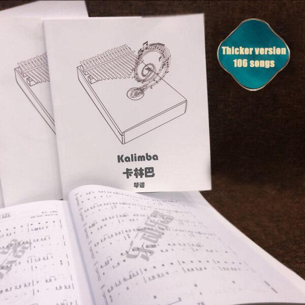 106 Songs Kalimba Book Song Music Thumb Piano Score Thicker Version Malaysia