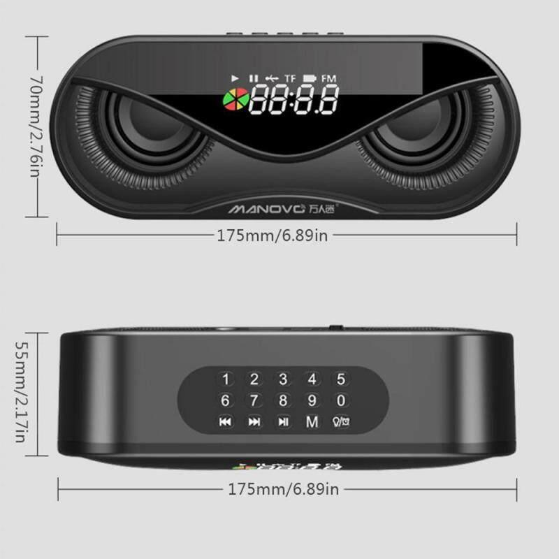 niceEshop M6 wireless bluetooth speaker / subwoofer / outdoor portable small radio / home alarm clock Singapore