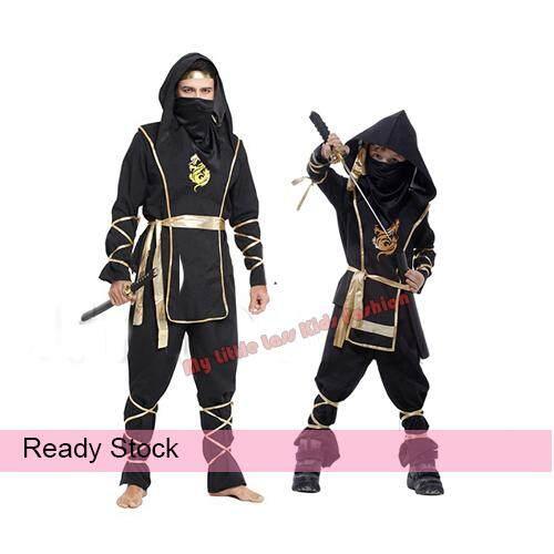 Kid/Adult Warrior Ninjas Ninja Assassin Suit Halloween Costume (4-8 years) toys for boys