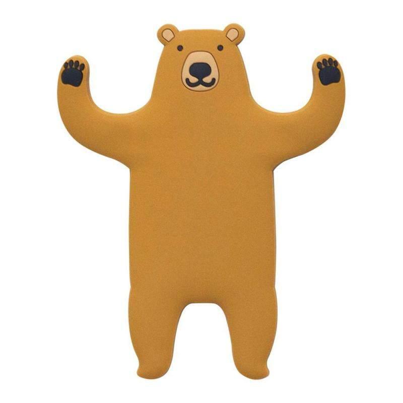 WOND Fun Cartoon Bear hook door back wall Cute decor Seamless Key hanger Soft
