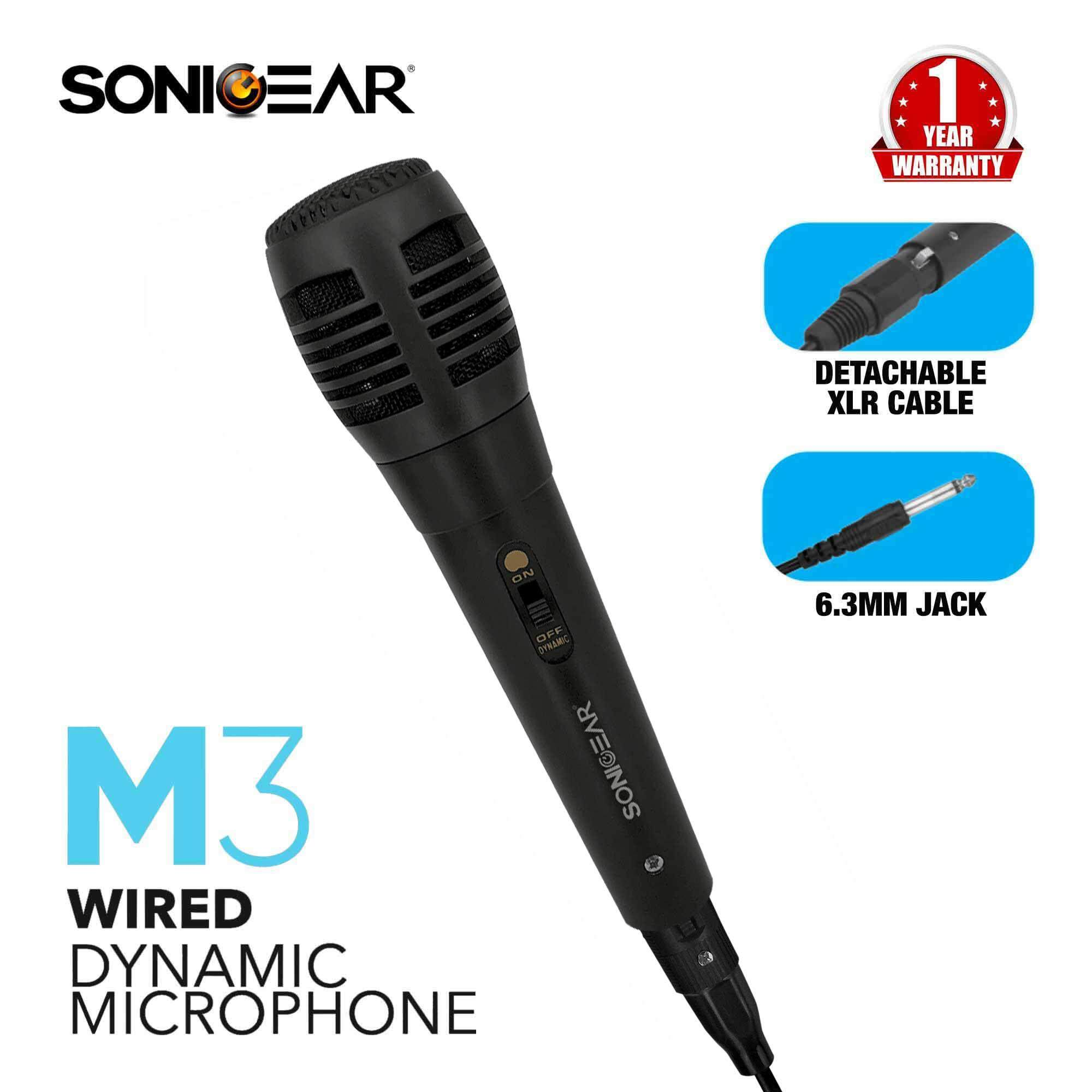 SonicGear M3 Wired Dynamic Microphone