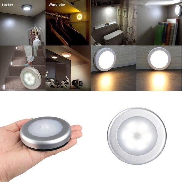 Bảng giá 6 Đèn LED Không Dây Cảm Biến Kích Hoạt Chuyển Động Đèn Tường Tủ Trong Nhà