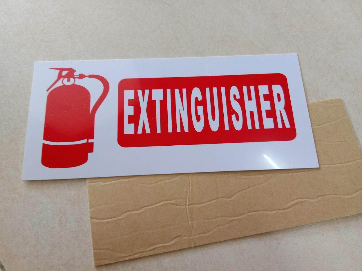 Universal plastic plat for FIRE Extinguisher (with strong double side tape along)